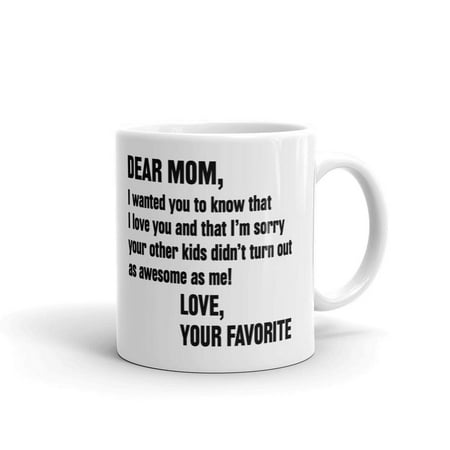 Dear Mom, Love You Mothers Day Coffee Tea Ceramic Mug Office Work Cup Gift 11oz](Inexpensive Mothers Day Gifts)