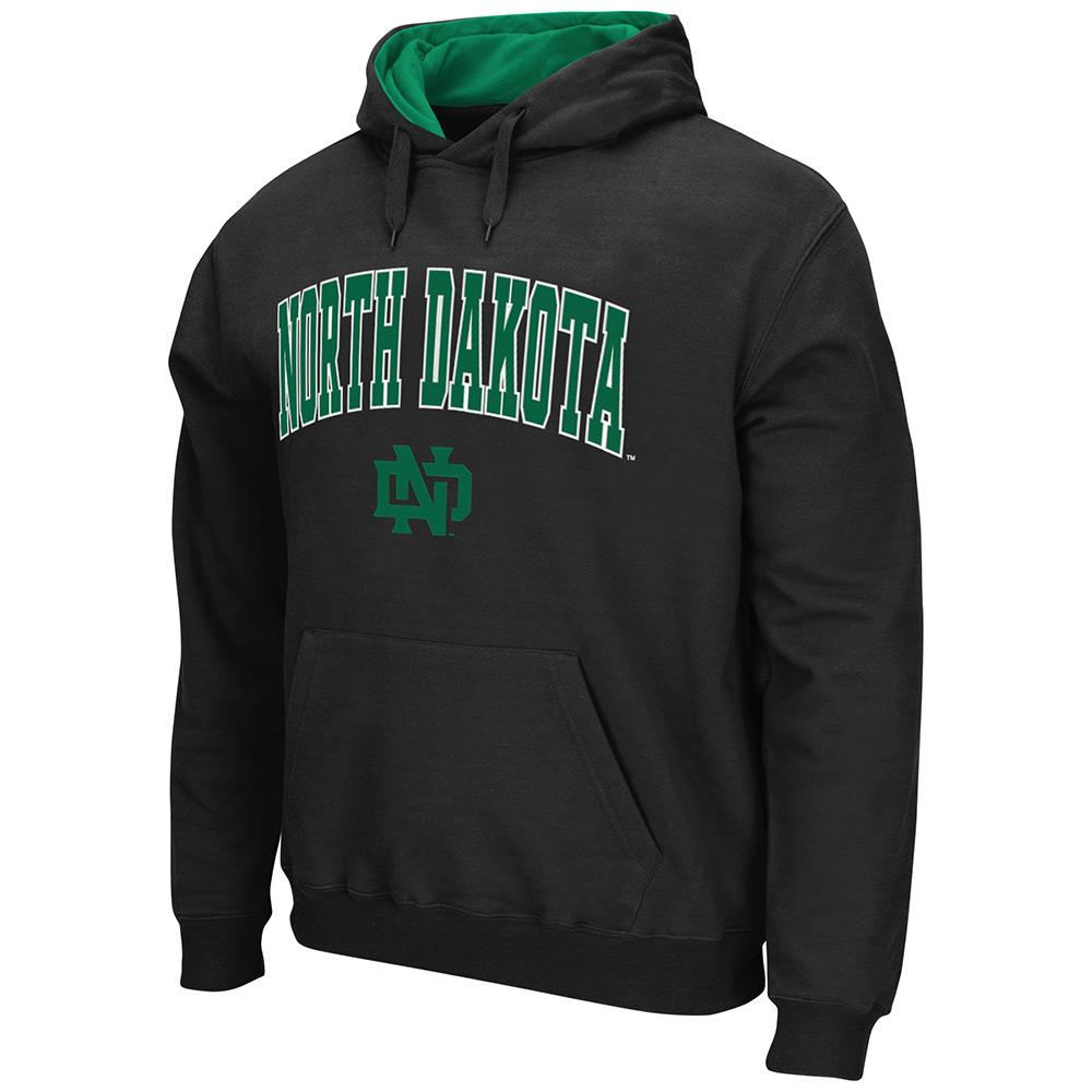 Mens NCAA North Dakota Fighting Hawks Pull-over Hoodie (Team Color) by Colosseum