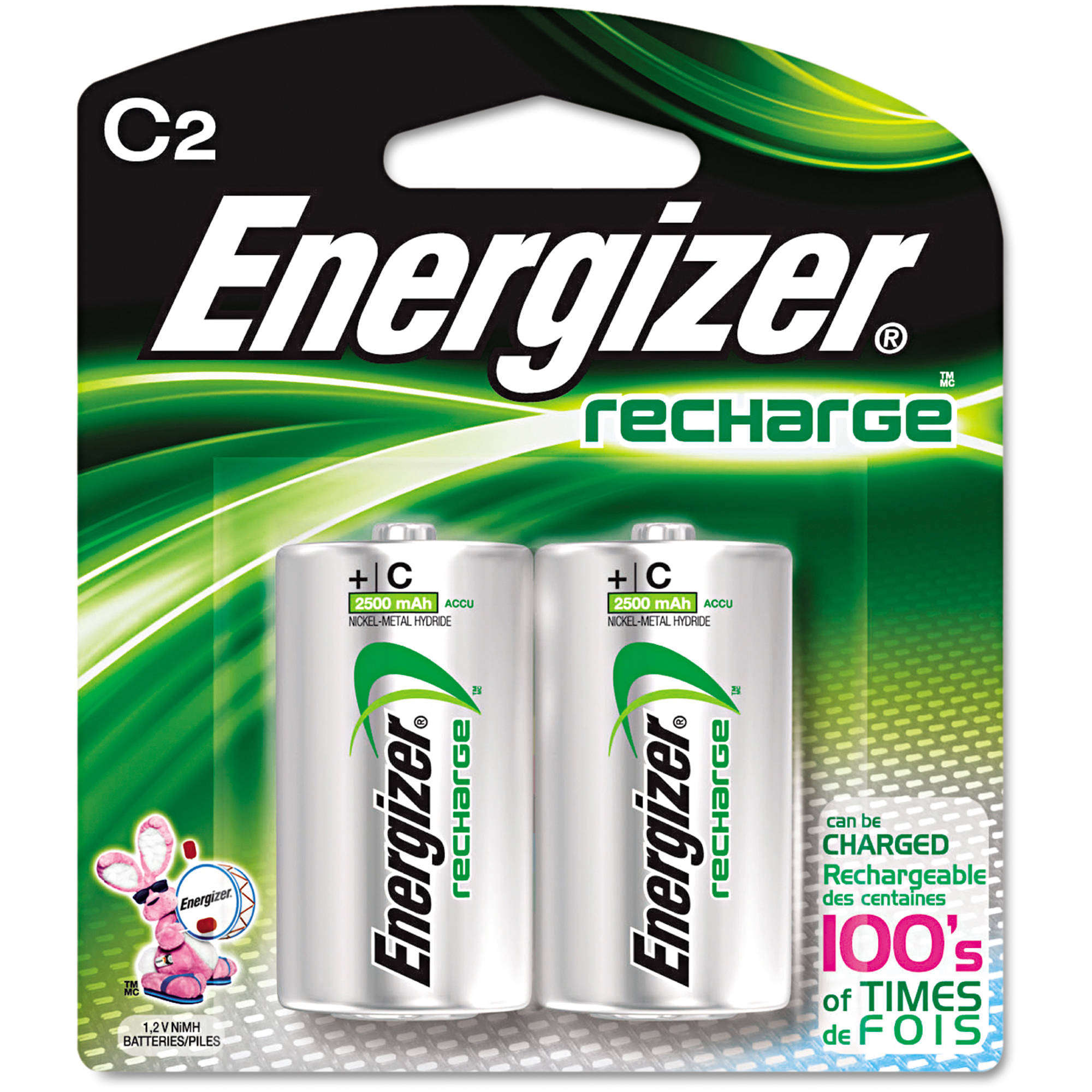 <span >Energizer - Rechargeable C Batteries - 2-Pack</span>