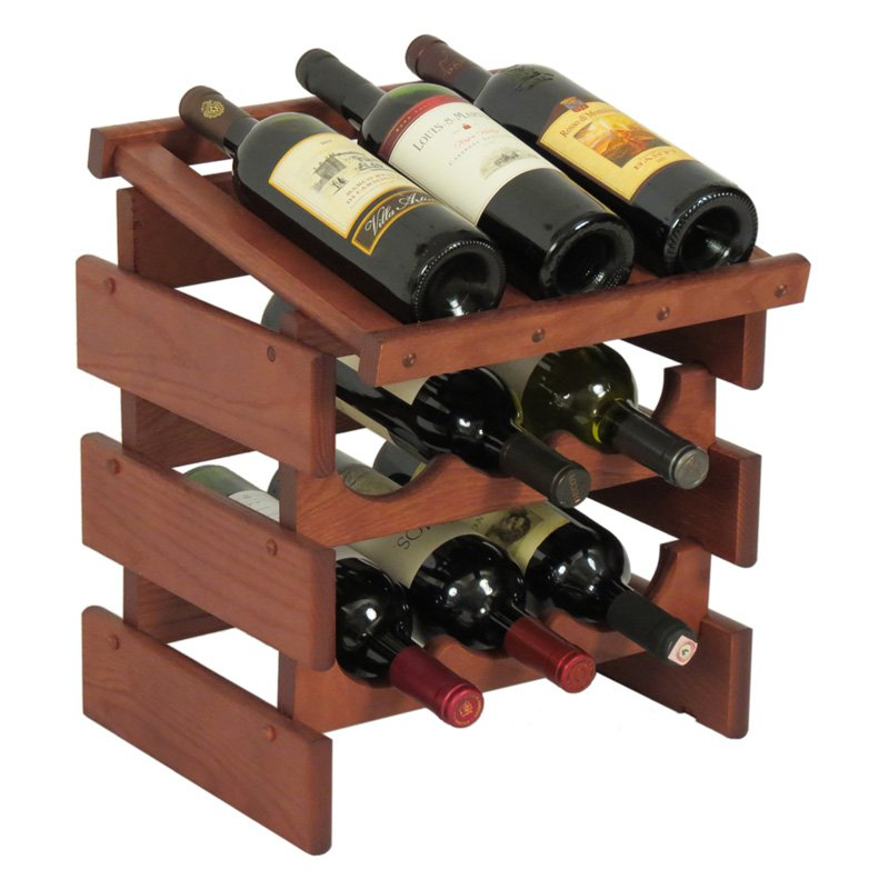 Dakota 9 Bottle Wine Rack with Display Top