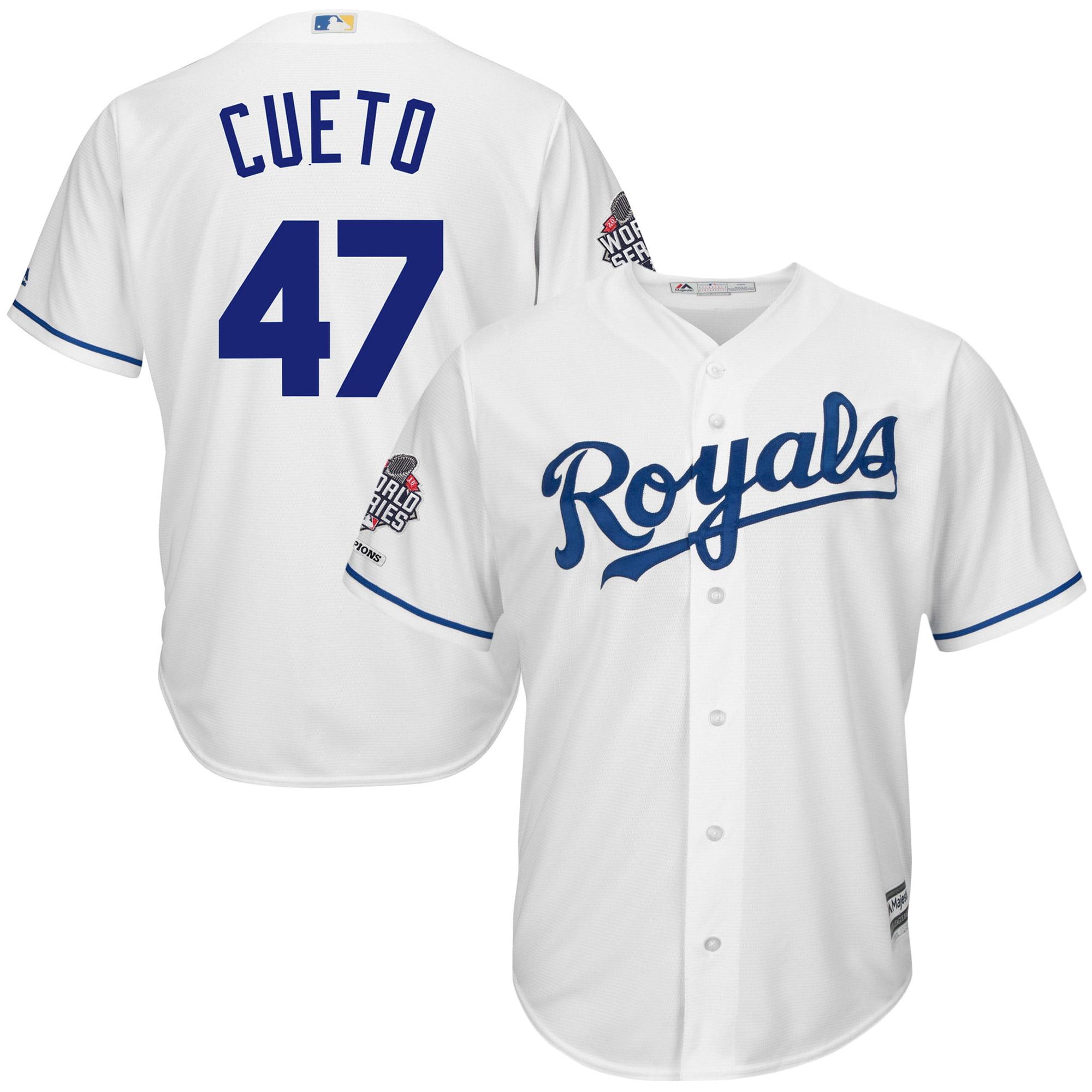 Johnny Cueto Kansas City Royals Majestic 2015 World Series Champions Cool Base Player Jersey - White