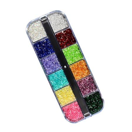 New Jewelry 12 Colors Pcaked Together in A Box Shiny Sequins Alloy Eye-shape Diamond Rhinestones Nail Decoration