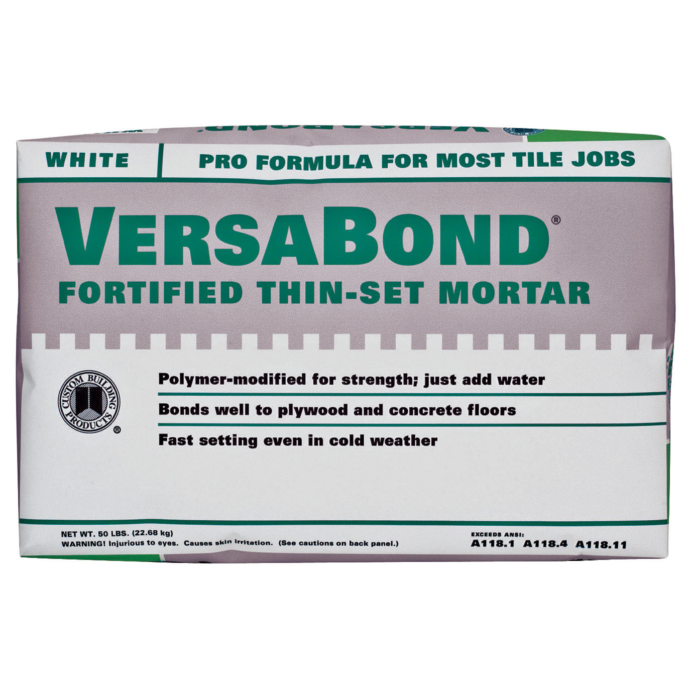 Custom Building Products  MTWS50WHT 50 Lb VersaBond Flex Fortified Thin Set Mortar