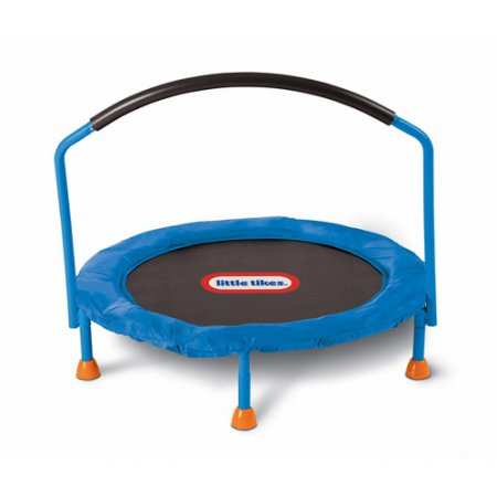 Little Tikes Easy Store 3-Foot Trampoline, with Hand Rail, Blue by Generic
