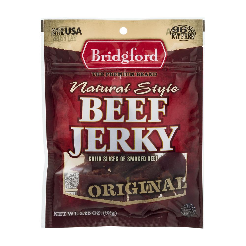 Bridgford Natural Style Beef Jerky Original, 3.25 OZ by Bridgford Foods Corporation