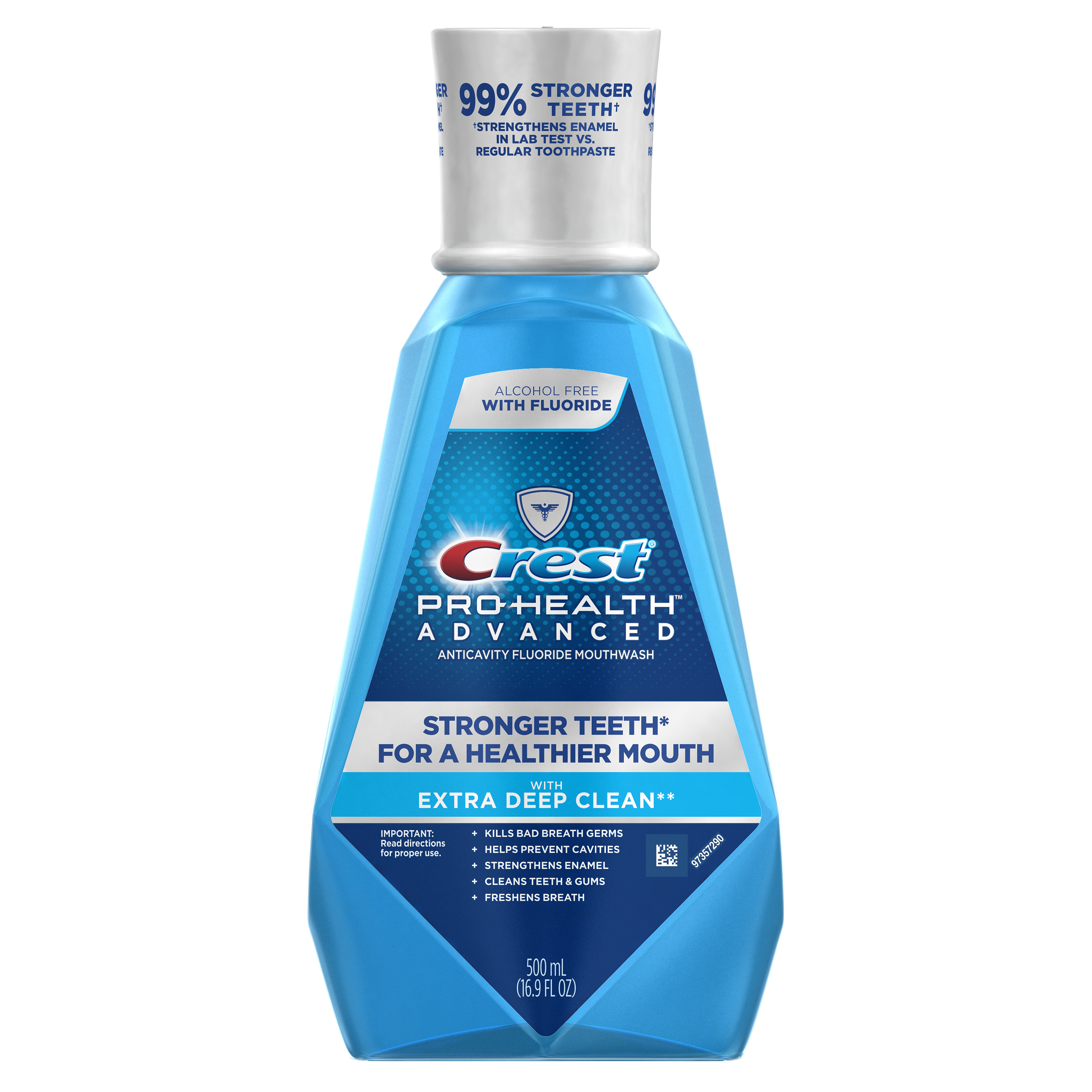Crest Pro-Health Advanced Alcohol Free Extra Deep Clean Mouthwash, Fresh Mint, 500 mL