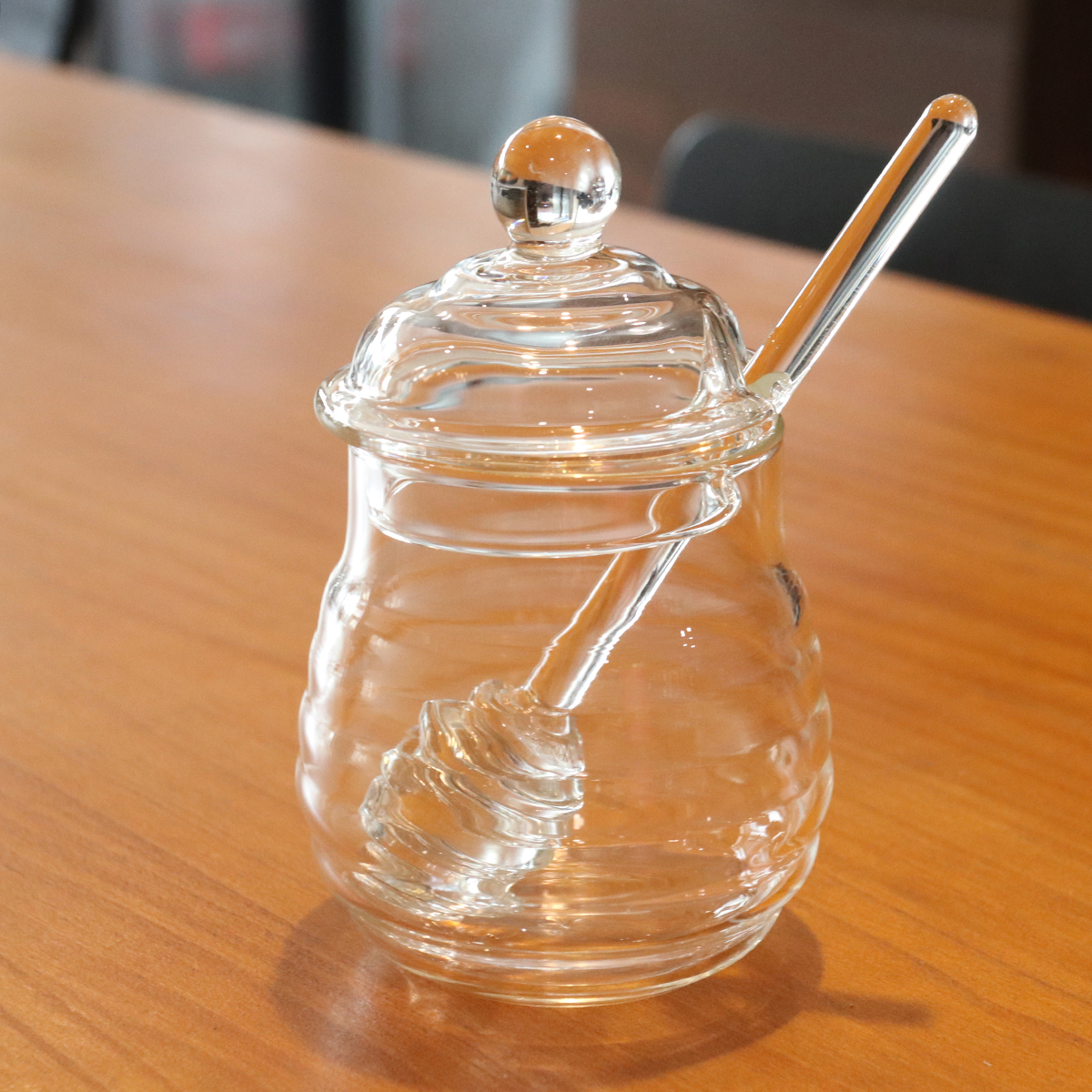 - Chutney Honey Candles 1lb Red Spotty 63mm lids Orcio Glass Jam Jars 370ml