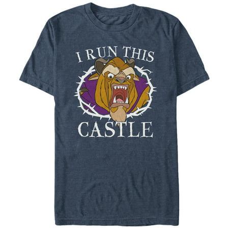 Beauty and the Beast Men's Run Castle T-Shirt ()
