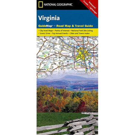 Virginia: guidemap road map & travel guide (other): 9781597750608