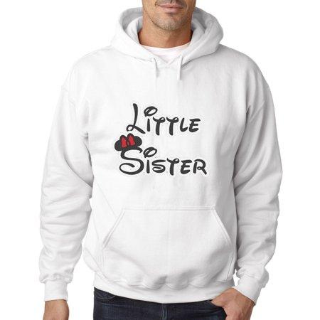 555 - Hoodie Little Sister Minnie Mouse Ears Bow Sweatshirt