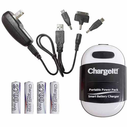 PC Treasure 08858 ChargeIt Portable Powerbank Pack, Black