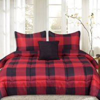 Buffalo Plaid Reversible Down Alternative 4 Piece Comforter Set