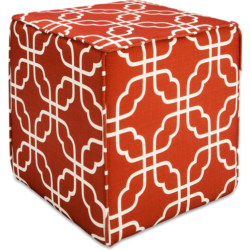 Better Homes and Gardens Pouf Ottoman, Interlock Grid