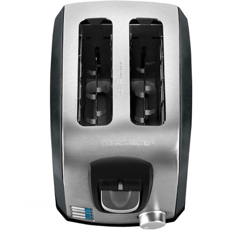 BLACK+DECKER 2-Slice Extra Wide Slot Toaster, Stainless Steel and Black, T2707