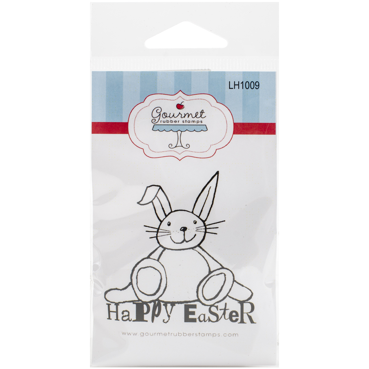 "Gourmet Rubber Stamps Cling Stamps 2.75""X4.75""-Happy Easter Bunny"