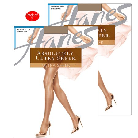 309c10bcc6f7b Hanes Absolutely Ultra Sheer Control Top Sheer Toe Pantyhose, Color:  Hazelnut, Size: C --- PACK OF 2 (Women's Hosiery & Tights - Original  Company Packing)