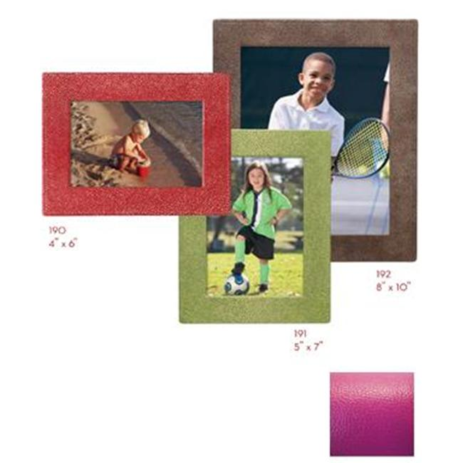 Raika RO 190 MAGENTA 4inch x 6inch Square Edge Leather Frames - Magenta