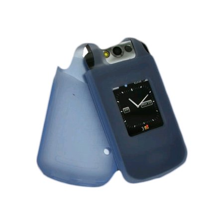 8230 Protector Case - OEM BlackBerry Silicone Skin Case for Blackberry Pearl Flip 8220 8230 (Blue)