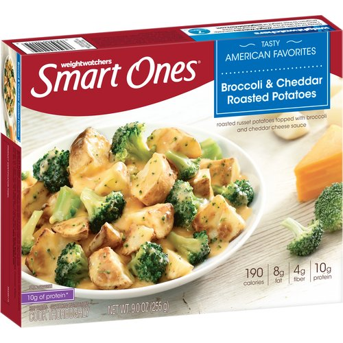 Weight Watchers Smart Ones Tasty American Favorites Broccoli & Cheddar Roasted Potatoes, 9 oz