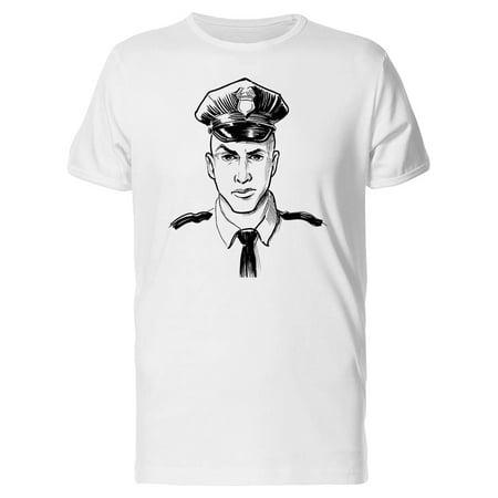 Policeman In Full Uniform Tee Men's -Image by Shutterstock](Policeman Uniform)