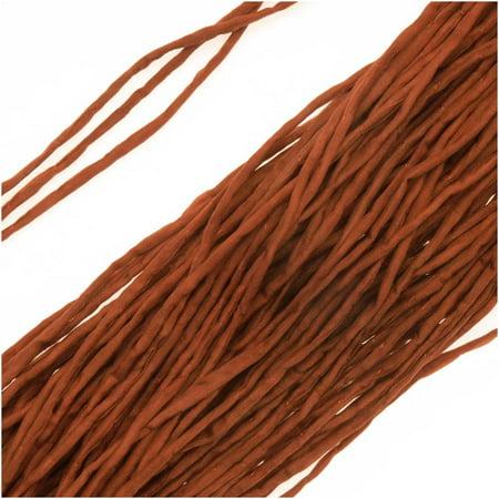 - Silk Fabric String, 2mm Diameter, 42 Inches Long, 1 Strand, Dark Rust Copper