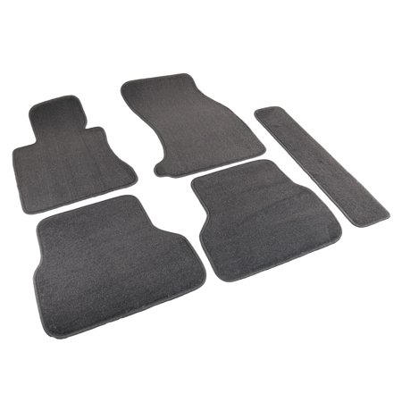 Spec-D Tuning For 2004-2009 Bmw E60 5-Series Car Floor Mats Carpet Gray Front Rear Center 5Pc Body Kit 2004 2005 2006 2007 2008 2009