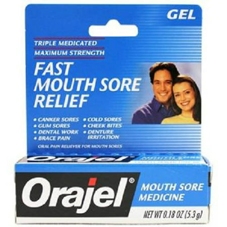 Product Of Orajel, Mouth Sore Pain Relief Gel, Count 1 - Toothache & Mouth Remedy / Grab Varieties & (Best Remedy For Mouth Sores)