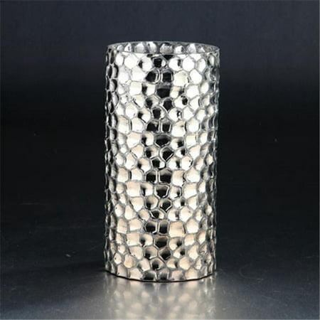 Diamond Star 51327 9.5 x 4.5 in. Glass Vase, Silver