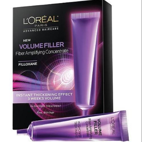 L'Oreal Advanced Haircare Volume Filler Fiber Amplifying Concentrate Ampoules 0.5 oz, 3ea (Pack of 4)