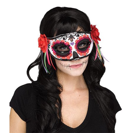 Day of the Dead Adult Mask - Day Of The Dead Halloween Masks