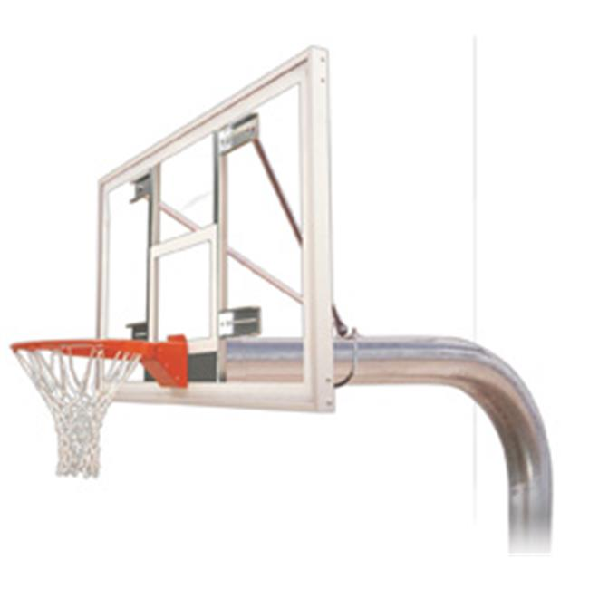 Tyrant Supreme Steel-Acrylic In Ground Fixed Height Basketball System, Forest Green