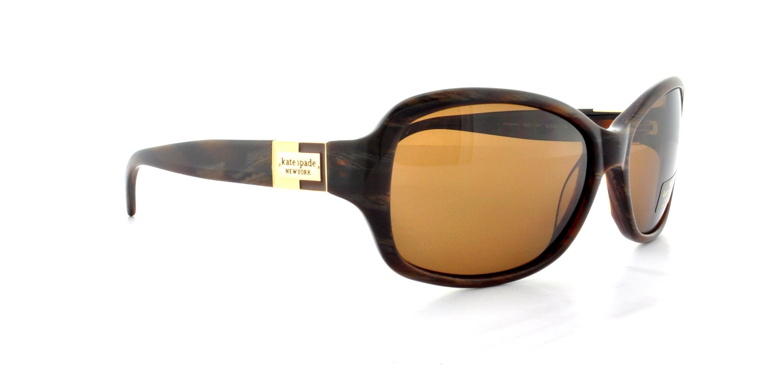 b0d555f20d KATE SPADE - KATE SPADE Sunglasses ANNIKA S 1Q8P Brown Horn 56MM -  Walmart.com