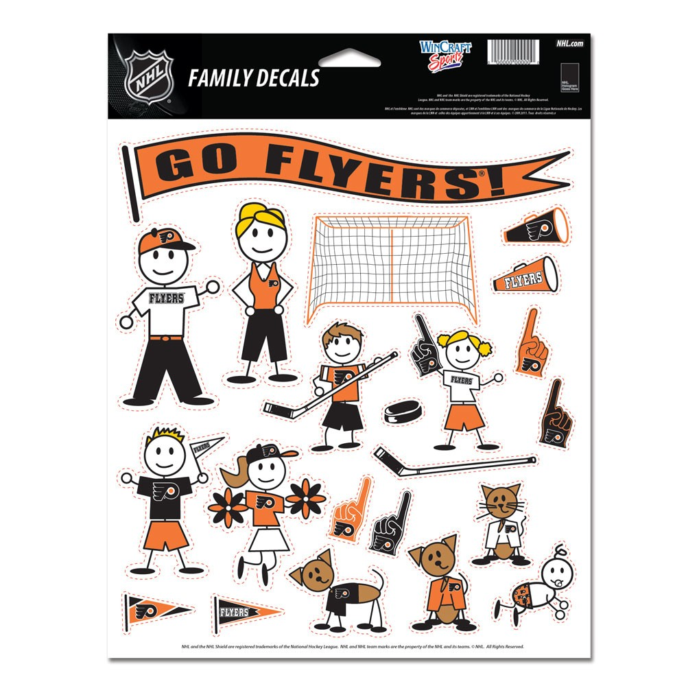 Philadelphia Flyers Official NHL 11 inch x 17 inch  Family Car Decal by Wincraft