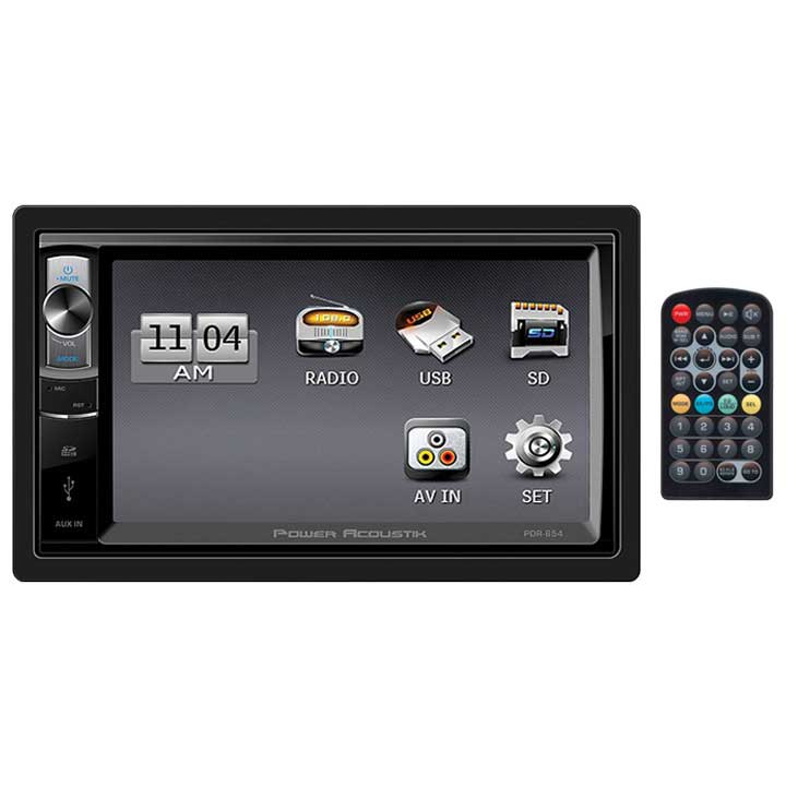"Power Acoustik PDR-654 - Double DIN Digital Media Receiver w/ 6.5"" LCD Touch Screen"