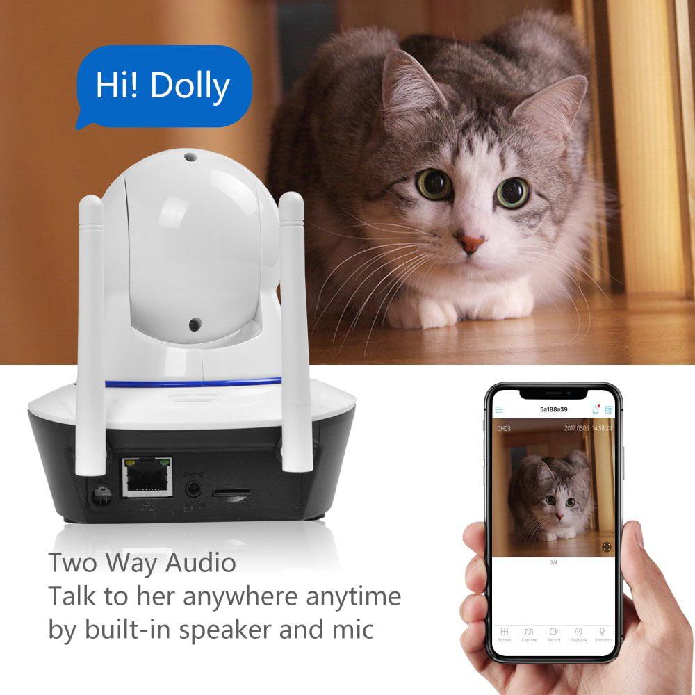 1080P HD Wireless IP Security Camera for Pet Monitor, Nanny Camera, Baby Monitor Night Version