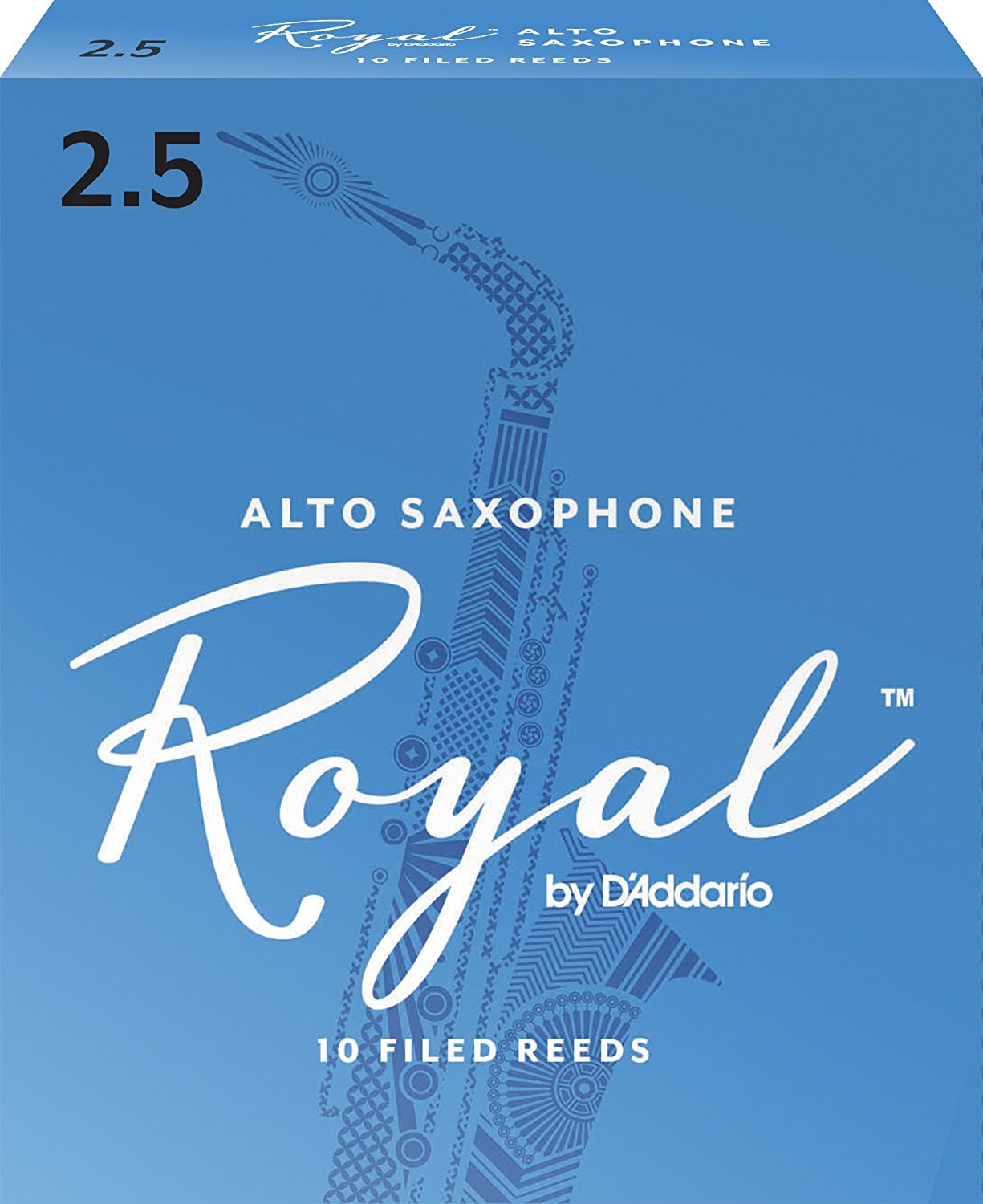Royal Alto Sax Reeds, Strength 2.5, 10-pack, JAVA 25 Clarinet SR263 Soprano Sax 10pack... by