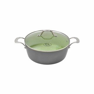 Catering Line Natura 3.5 Quart Ceramic Casserole | 100% Nontoxic, Natural Nonstick Ceramic Coating, Oven and Dishwasher Safe, For Gas, Electric, and Induction Stovetop Dishwasher Safe Non Stick Casserole