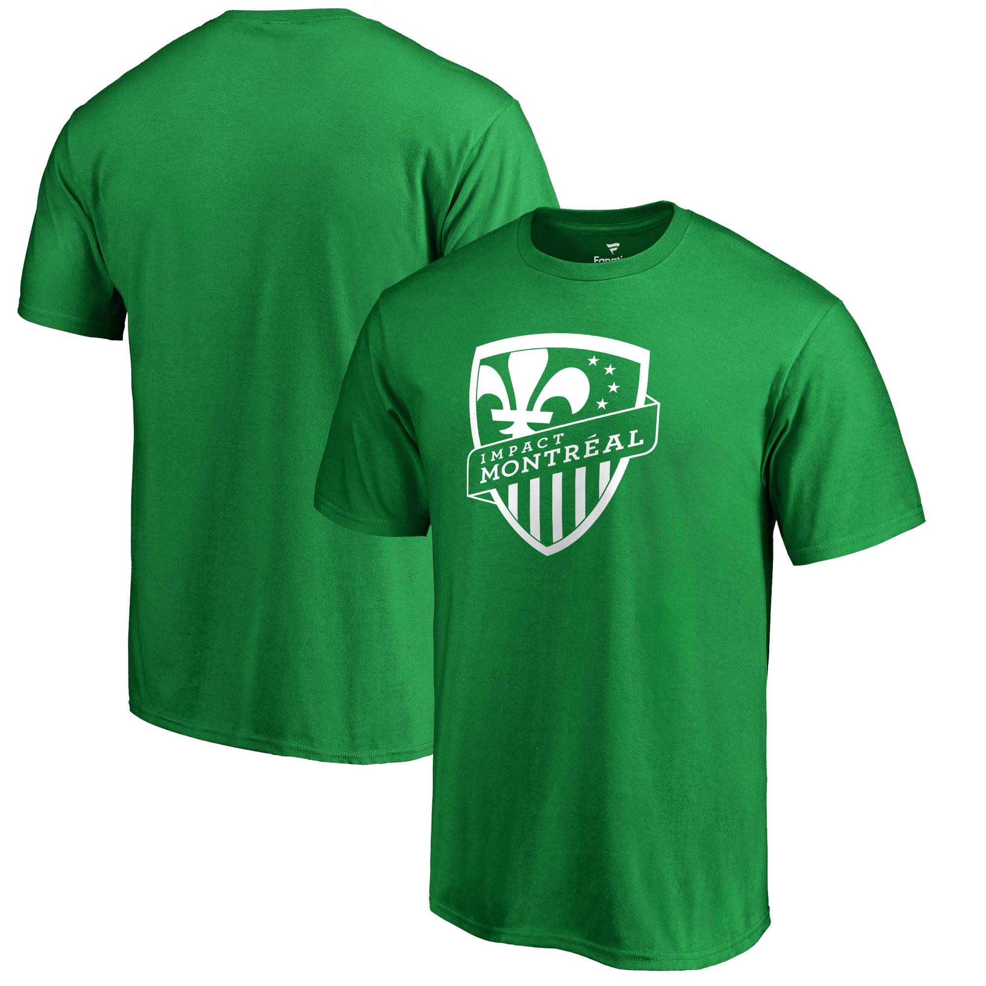 Montreal Impact Fanatics Branded St. Patrick's Day White Logo T-Shirt - Kelly Green