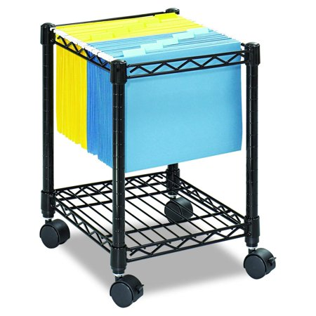 Graphite Powder Coat Finish (Compact  Mobile Letter Size File Cart 5277BL Black, Black Powder Coat Finish, Swivel Wheels for Mobility Safco Products)