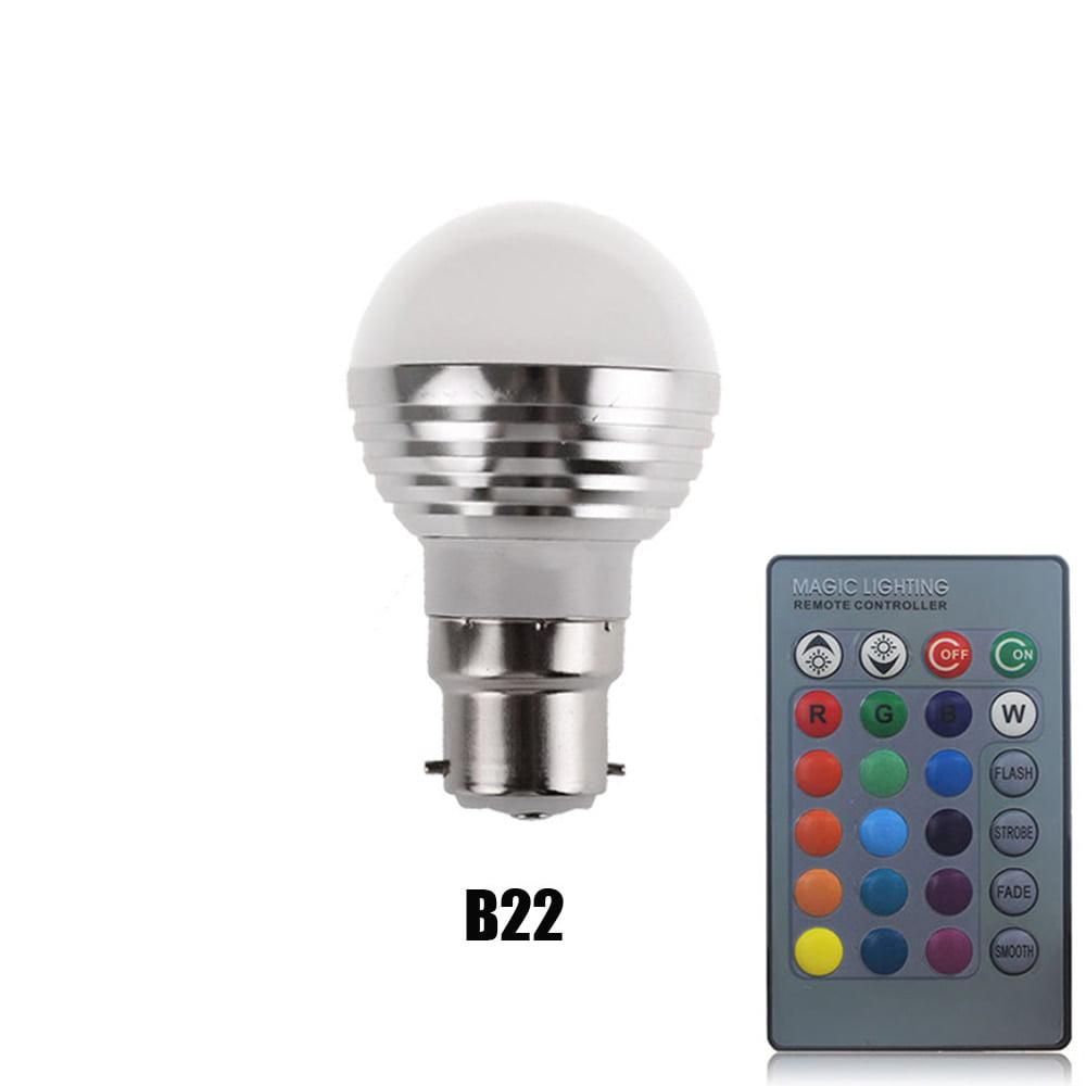 E27 E14 GU10 MR16 3W 16Color LED RGB Spotlight Bulb Changing Lamp Remote Control
