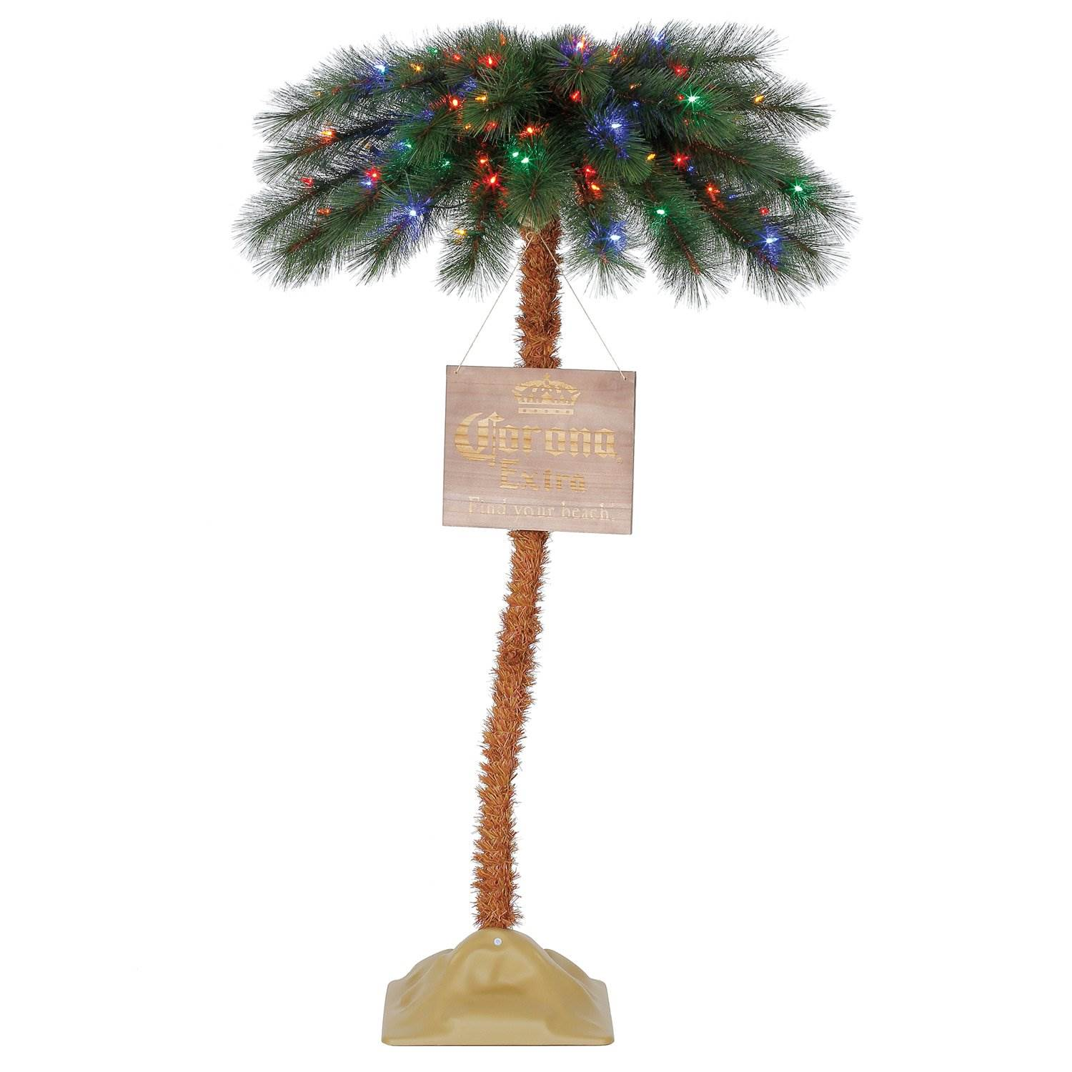Commercial Outdoor Christmas Tree Lights: Corona 5 Foot Commercial Palm Tree LED Pre Lit Artificial