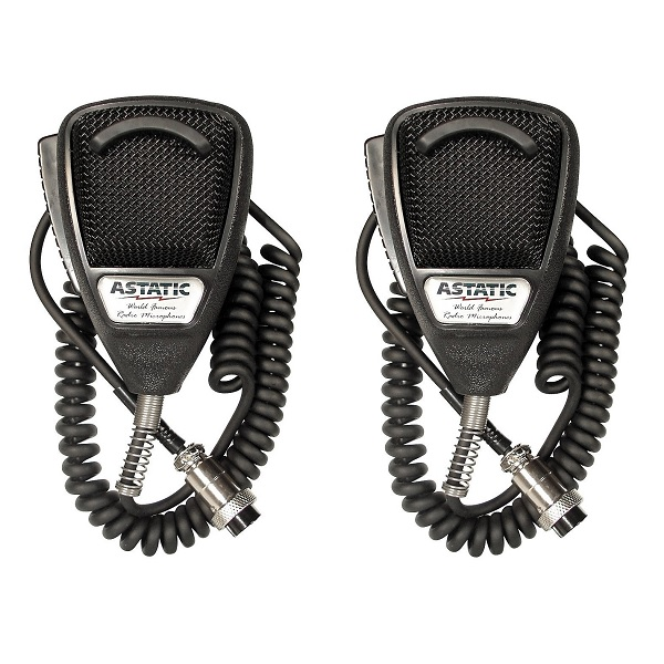 LOT OF 2 Astatic 636L Noise Cancelling CB Radio 4 pin Mic...
