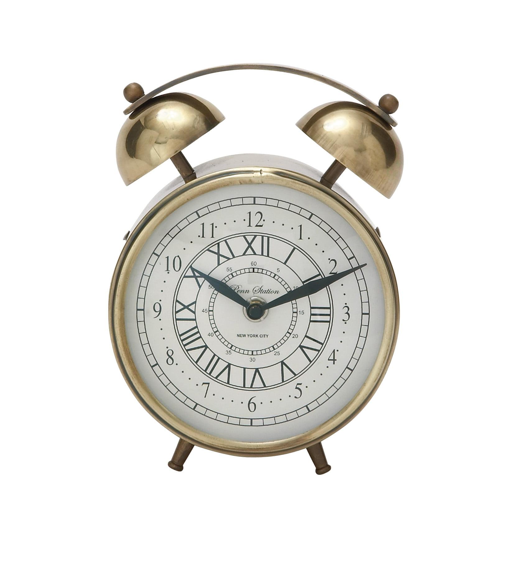 Striking Metal Table Clock by Benzara
