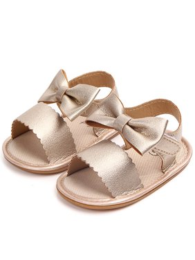 BOBORA Cute Baby Girl Summer PU Leather Bow-knot Sandals Shoes