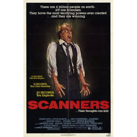 Scanners (1981) 11x17 Movie Poster (Halloween 1981)