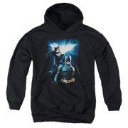 The Dark Knight Rises Bat & Cat Big Boys Pullover Hoodie