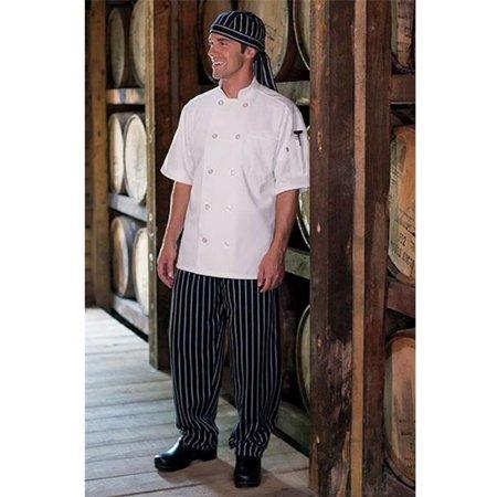 4005c-4104 classic baggy chef pant 2'' elastic waist in chalk stripe -