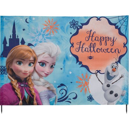 Gemmy Disney Frozen Yard Card Halloween Decoration - Halloween Greeter