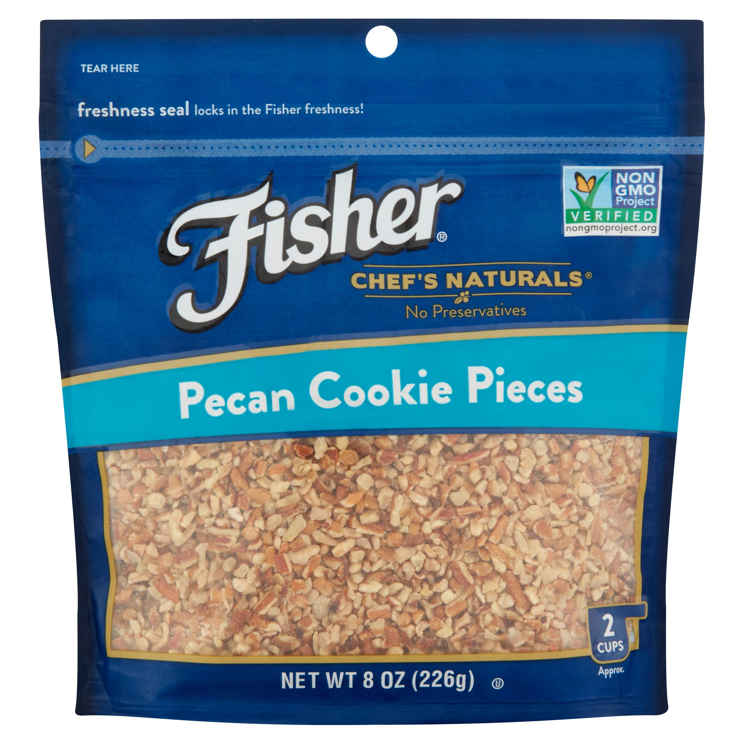 Fisher Chef's Naturals Pecan Cookie Pieces, 8 oz by John B. Sanfilippo & Son, Inc.