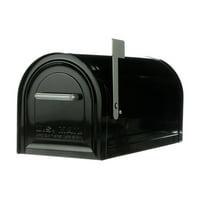 Gibraltar Mailboxes Reliant Large, Locking, Post Mount Mailbox, Black, MB981B01